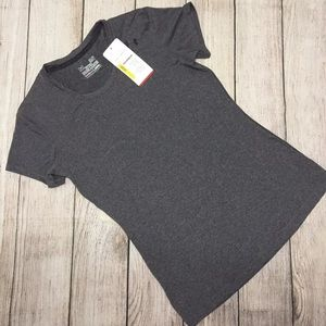 Under Armour Heatgear Fitted Grey Top Sz.XS